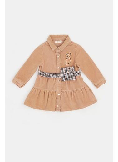 BG Baby Kız Bebek Bej Elbise 20Fw1Bg2913 Bej